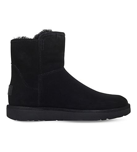 Abree 迷你麂皮脚踝靴 (黑色