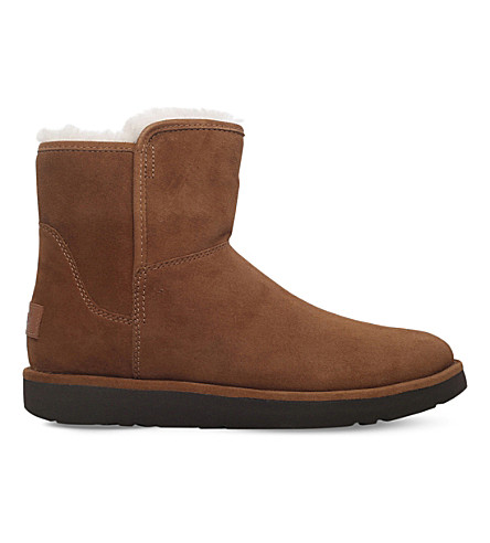 UGG Abree mini suede ankle boots (Dark+brown