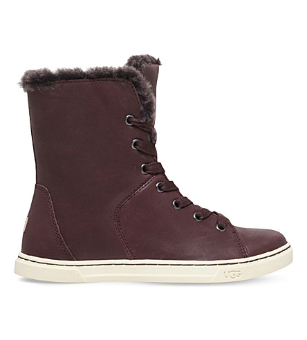 ugg lace up leather boots selfridges