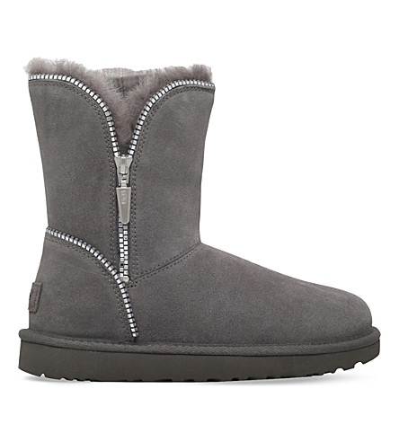 UGG Florence zipped suede boots (Grey