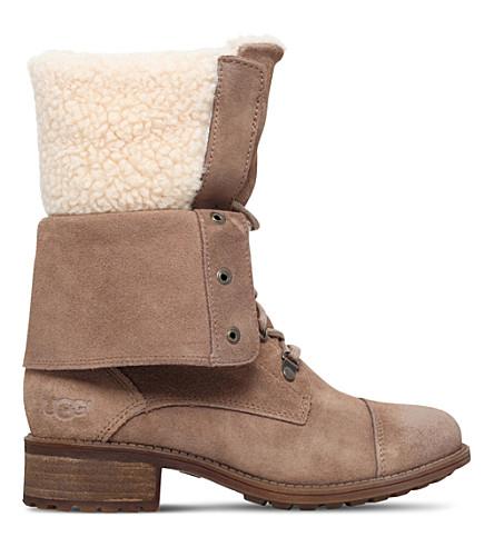 UGG Gradin suede boots (Dark brown