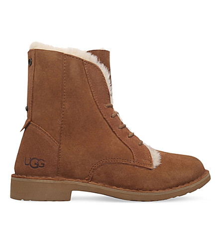 UGG Quincy lace-up suede boots (Brown