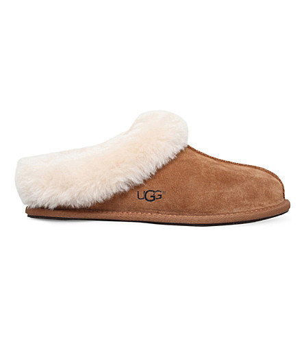 UGG Moraene sheepskin-lined suede slippers (Brown