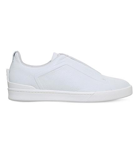 ERMENEGILDO ZEGNA Couture 3x leather trainers (White
