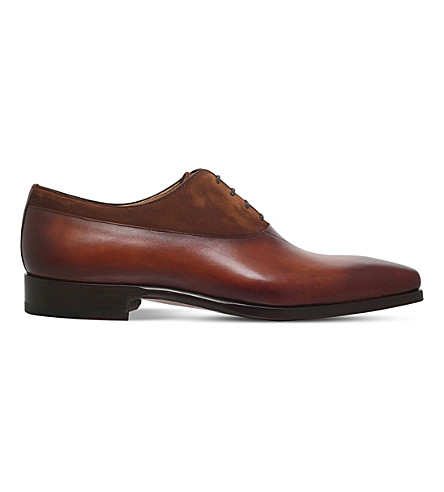 MAGNANNI Vincente leather and suede oxford shoes (Tan