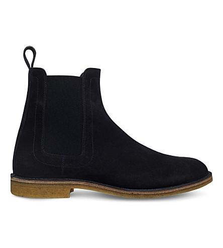BOTTEGA VENETA Stiched-detail suede ankle boots