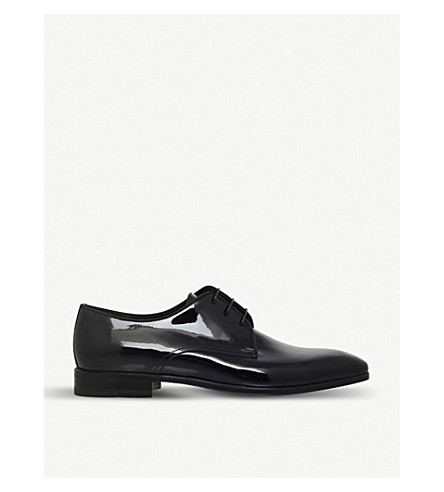 STEMAR Scala patent leather derbys (Black