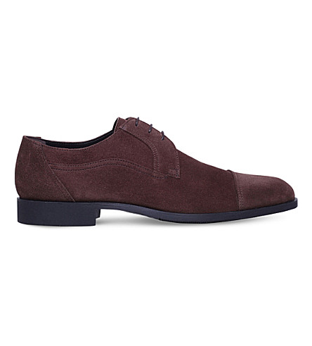 STEMAR Suede Derby shoes (Dark+brown