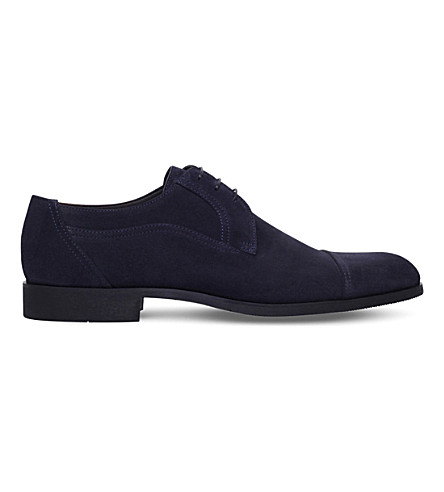 STEMAR Suede Derby shoes (Navy