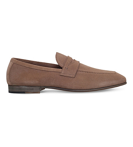 STEMAR Suede penny loafers (Taupe