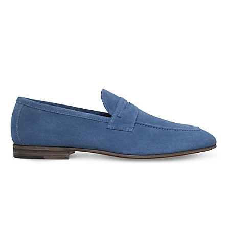 STEMAR Suede penny loafers (Blue