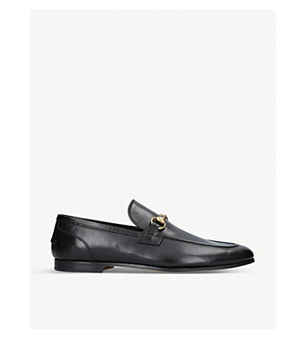 GUCCI Jordaan leather loafers (Black