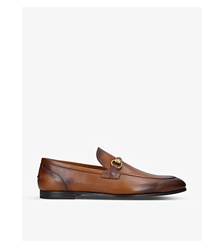 GUCCI Jordaan leather loafers (Brown