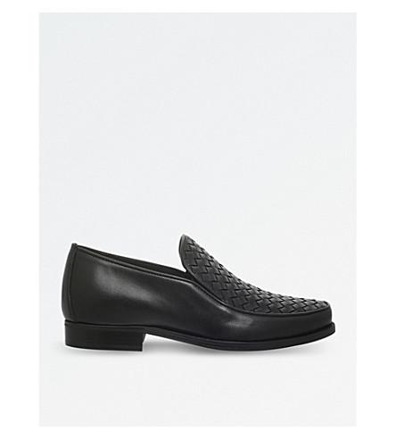 BOTTEGA VENETA Chet woven-detail loafers (Black