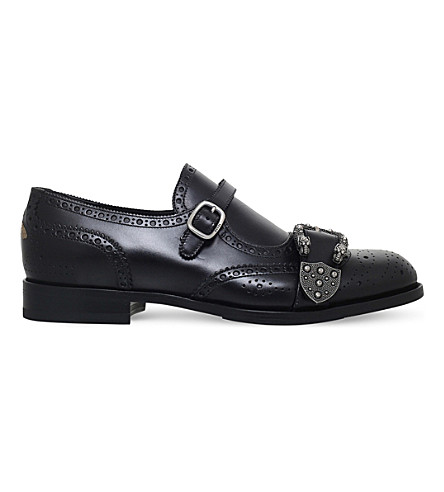GUCCI Queercore leather monk shoes