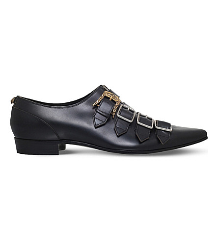GUCCI Quebec multi-strap leather monk shoes