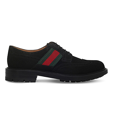GUCCI Berard cleated suede Derby brogues