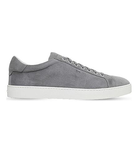 SANTONI Gloria suede trainers (Grey