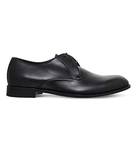 ERMENEGILDO ZEGNA Avenue Flex leather Derbys (Black