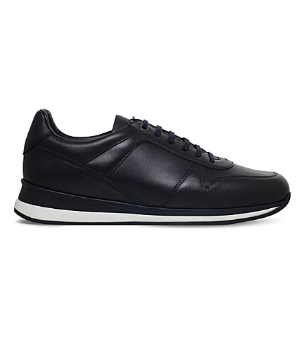 ERMENEGILDO ZEGNA New Clean leather trainers (Navy