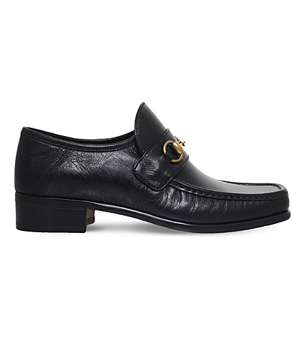 GUCCI Vegas leather loafers (Black