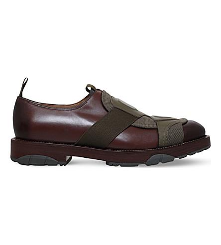 SALVATORE FERRAGAMO Faber cross-strap leather trainers