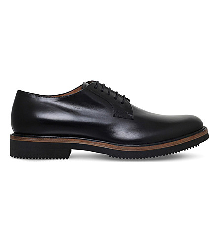 DRIES VAN NOTEN Lace-up leather Derby shoes