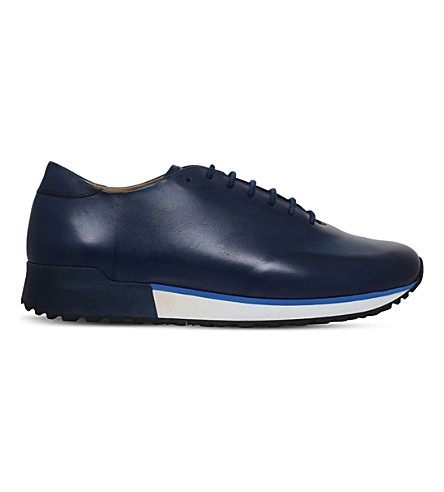SUTOR MANTELLASSI Samson wholecut leather trainers (Blue