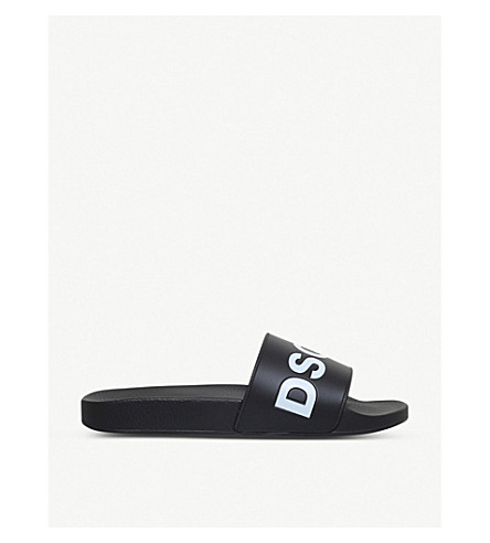 DSQUARED2 Dune Logo pool slides (Blk/white