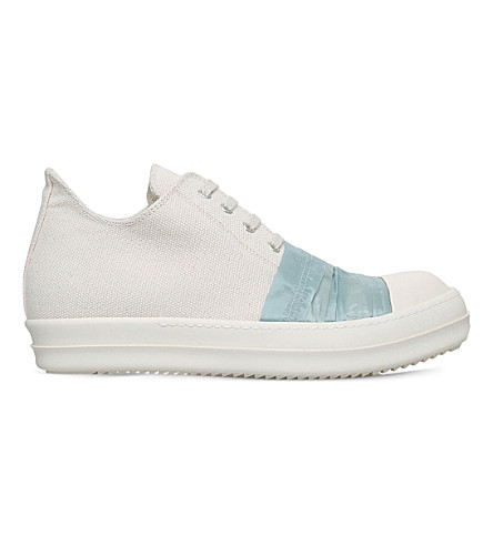 DRKSHDW Layered canvas low-top trainers