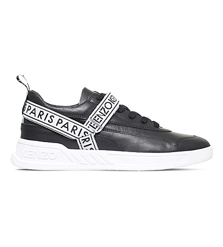 KENZO Calvin leather trainers (Black