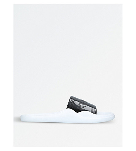 KENZO Logo rubber pool sliders (Blk/white