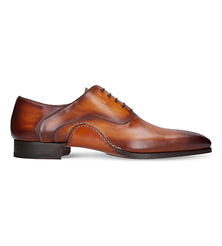 MAGNANNI Opanka leather oxford shoes (Tan