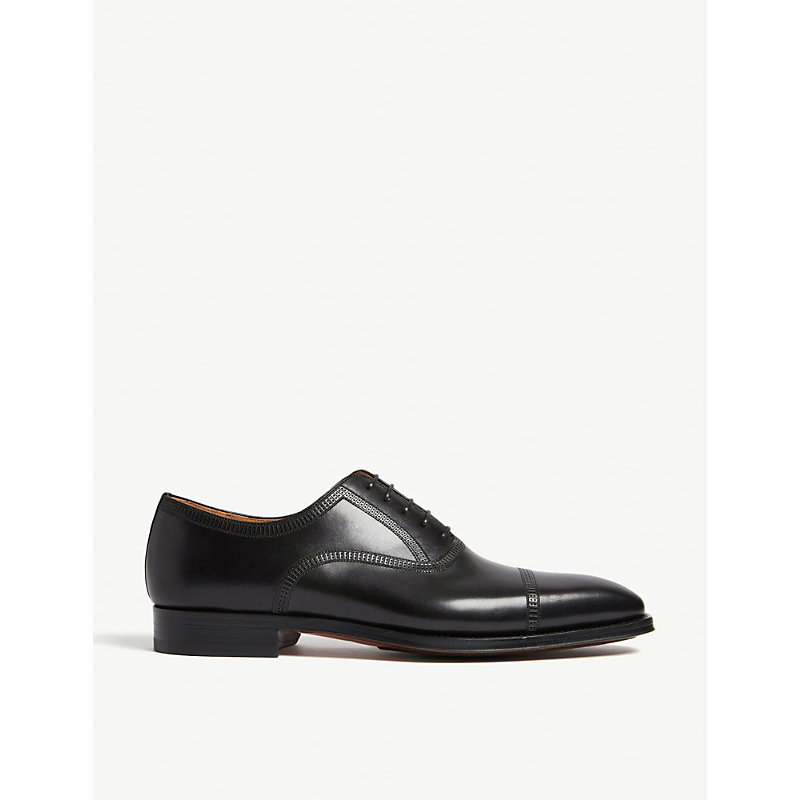 MAGNANNI | Domino Punch Leather Oxford Shoes | Goxip