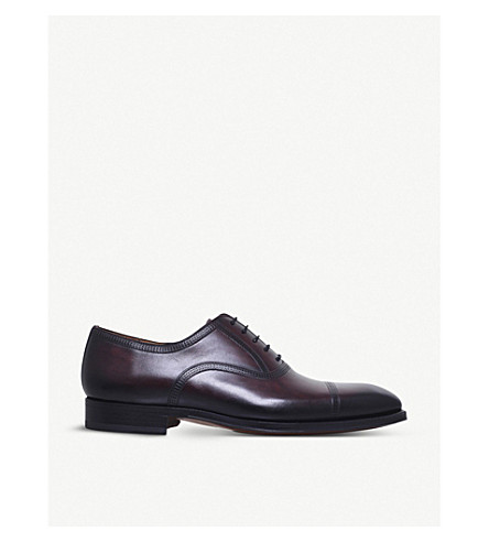 MAGNANNI Domino leather Oxford shoes (Wine