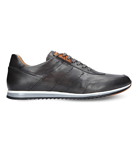 MAGNANNI Perforated leather sneakers (Grey