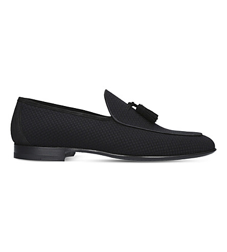 MAGNANNI Tassel leather loafers (Black