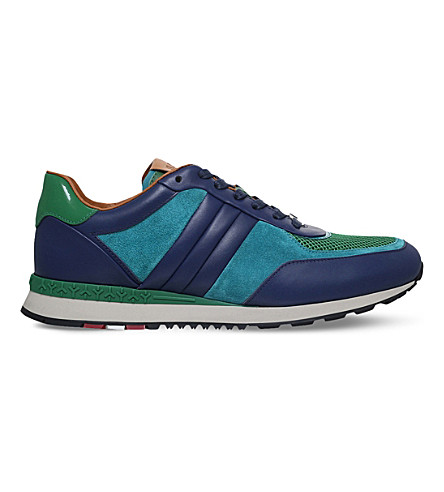 BALLY Ascona leather trainers (Navy