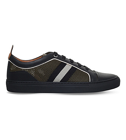 BALLY Hegor leather and mesh trainers (Black
