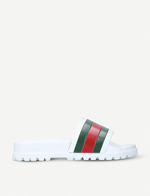 gucci mens shoes. gucci pursuit trek rubber slider sandals gucci mens shoes