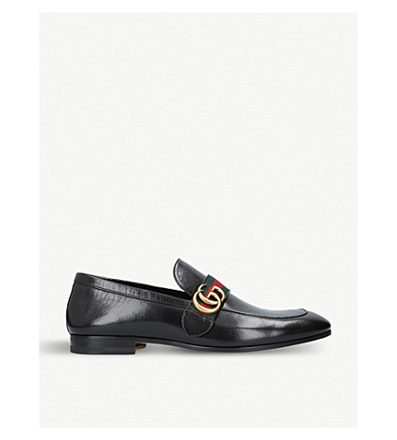 GUCCI Donnie GG leather loafers (Black