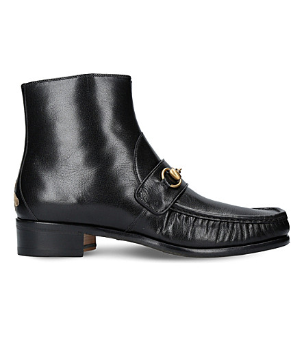 GUCCI Vegas horsebit leather boots (Black
