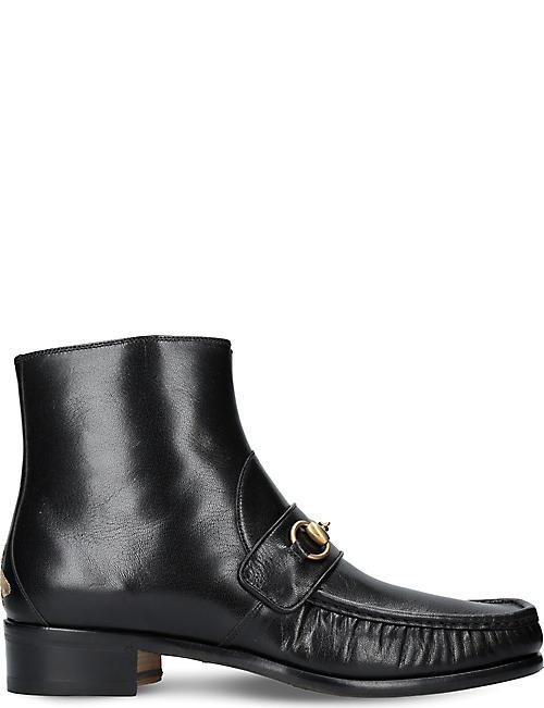Insun Mens Vintage Crazy Horse Leather Boot Shoes  EYPP23RZ6