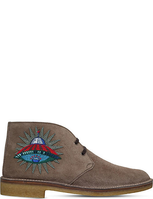 GUCCI New Moreau UFO suede desert boots