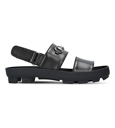 GUCCI Sam leather sandals (Black