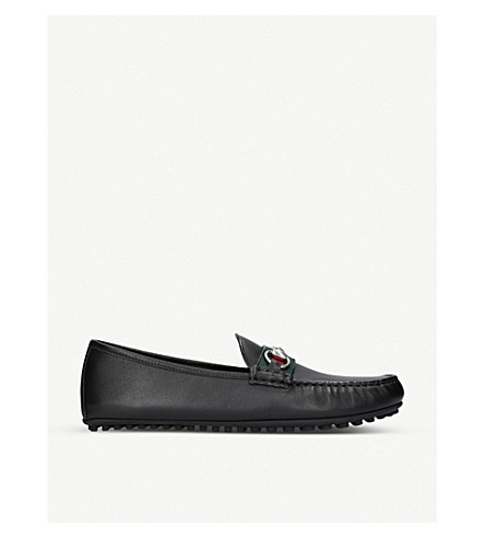 GUCCI Kanye leather driving shoes (Black