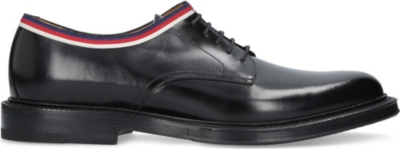 Web-trimmed leather derby shoes(5832816)