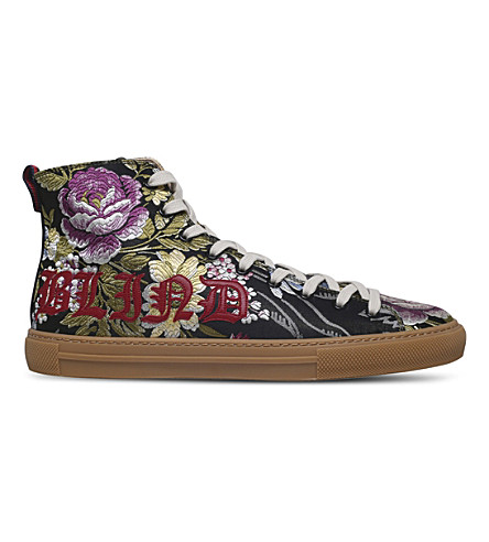 GUCCI Major Blind floral-jacquard trainers (Black