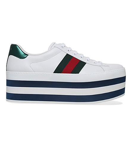 GUCCI Ace platform trainers (White