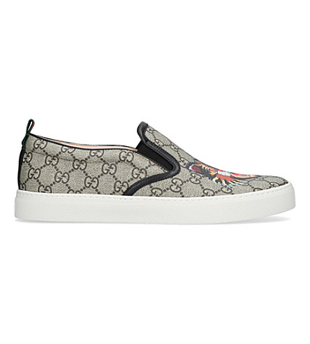 GUCCI Dublin tiger-print GG canvas skate shoes (Brown